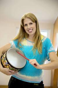 Karen with Drum